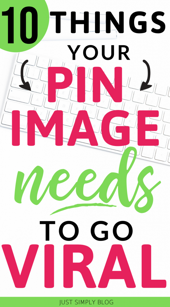 Here are the key items that your Pinterest image needs to get more clicks and go viral. Don't miss out on all of these elemants to make your pin graphic stand out and get noticed. I'll show you how sizing, color, text, headline, colors, and fonts can make a huge difference in your pins.