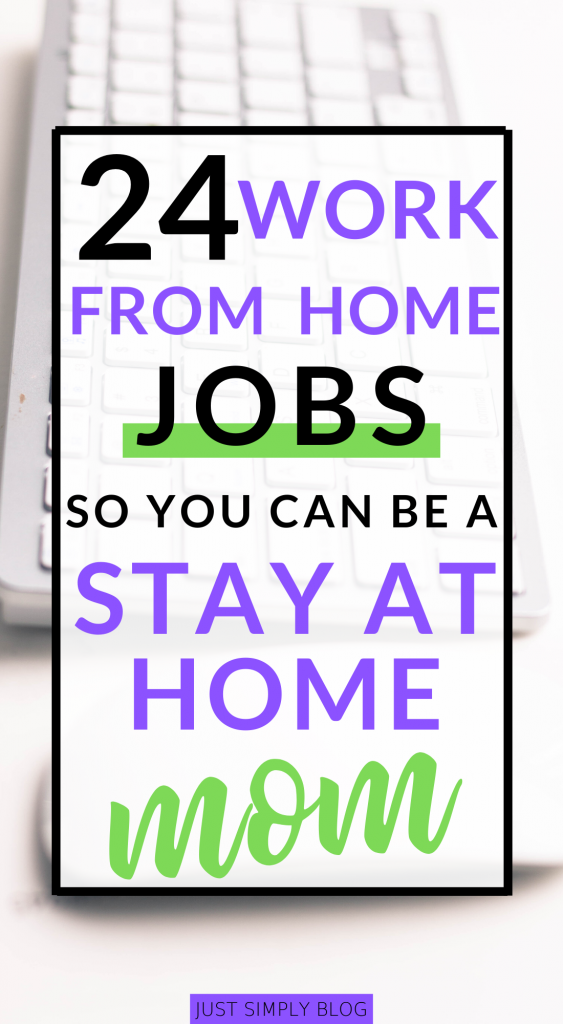 Stay at home with your babies and kids when you can earn a part-time or full-time income working from home with these easy jobs that any mom can do.